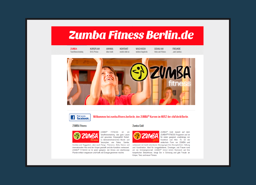 website Zumba Fitness